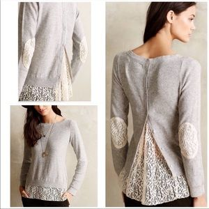 Angel of the North lace button sweater